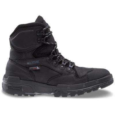 Men's Wolverine Legend Size 10M Black Full-Grain Leather Waterproof Composite Toe 6 in. Boot