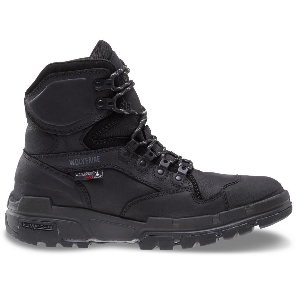 c81d229de1f Wolverine Men's Wolverine Legend Size 8EW Black Full-Grain Leather  Waterproof Composite Toe 6 in. Boot