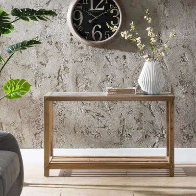 Deanna Aged Natural Reclaimed Wood with Cement Gray Console Table