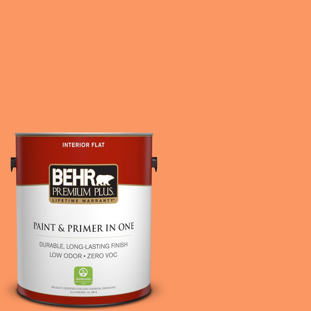 BEHR Premium Plus 1-gal. #230B-5 Indian Paint Brush Zero VOC Flat Interior Paint