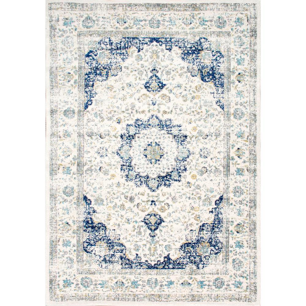 X  Blue Dining Room Rug