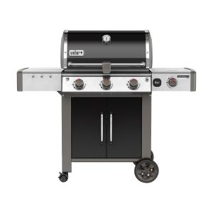 Weber Genesis II LX E-340 3-Burner Natural Gas Grill in Black with Built-In Thermometer and Grill Light by