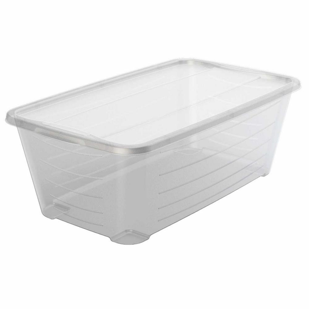 5.5 Qt. Rectangular Clear Plastic Protective Storage Shoe Box