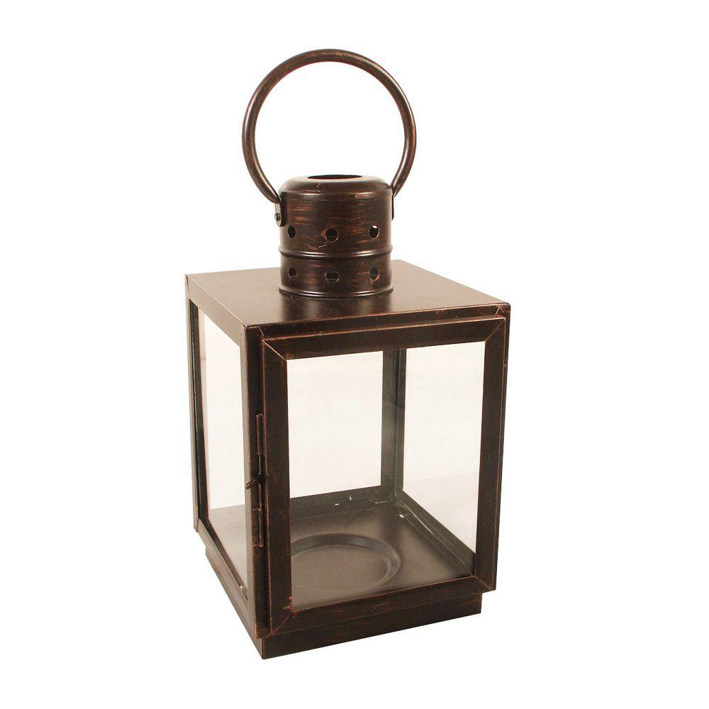 12 in. Bronze Square Small Lantern