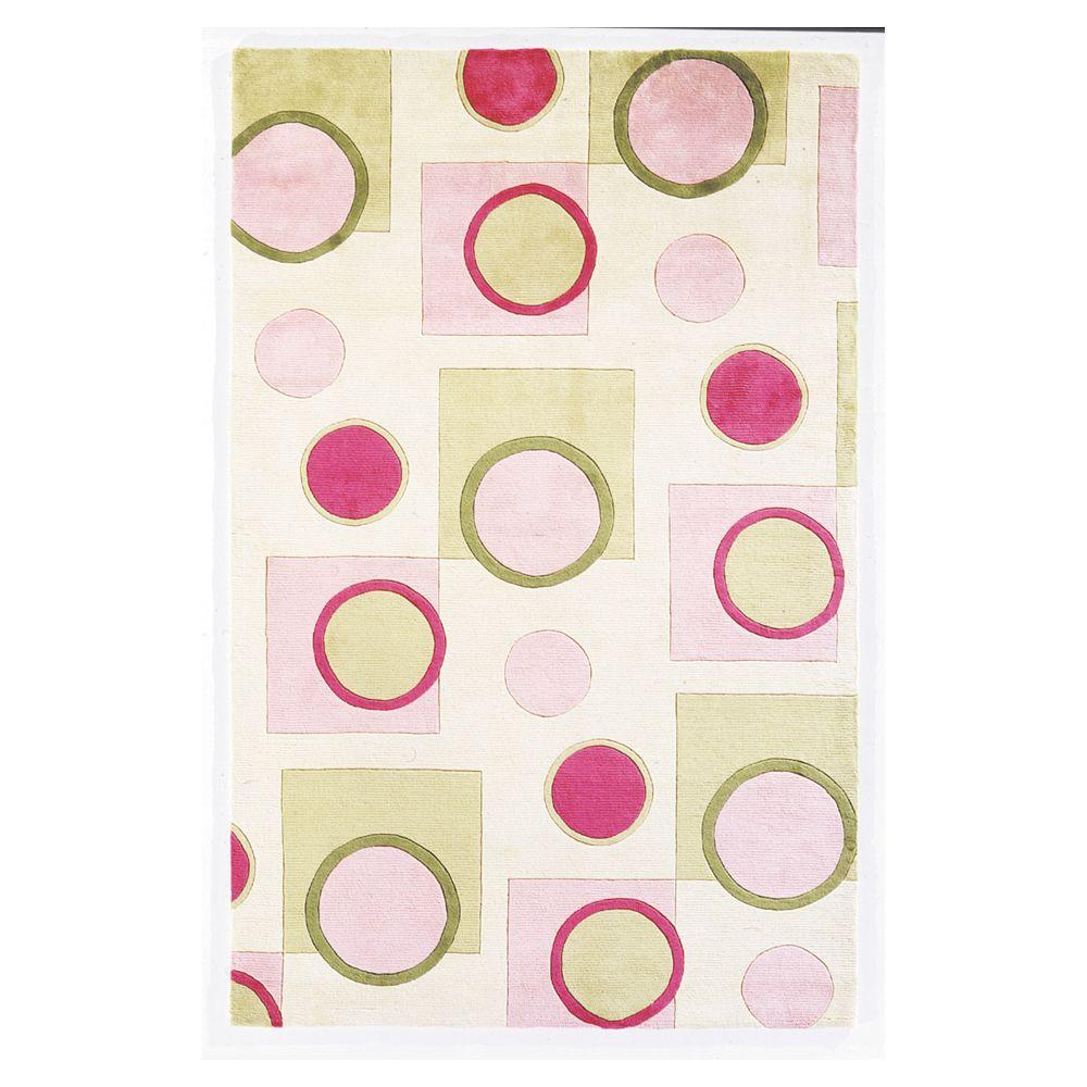 Kas Rugs Pretty in Pink 5 ft. 3 in. x 8 ft. 3 in. Area Rug