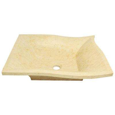 Stone Vessel Sink in Egyptian Yellow Marble