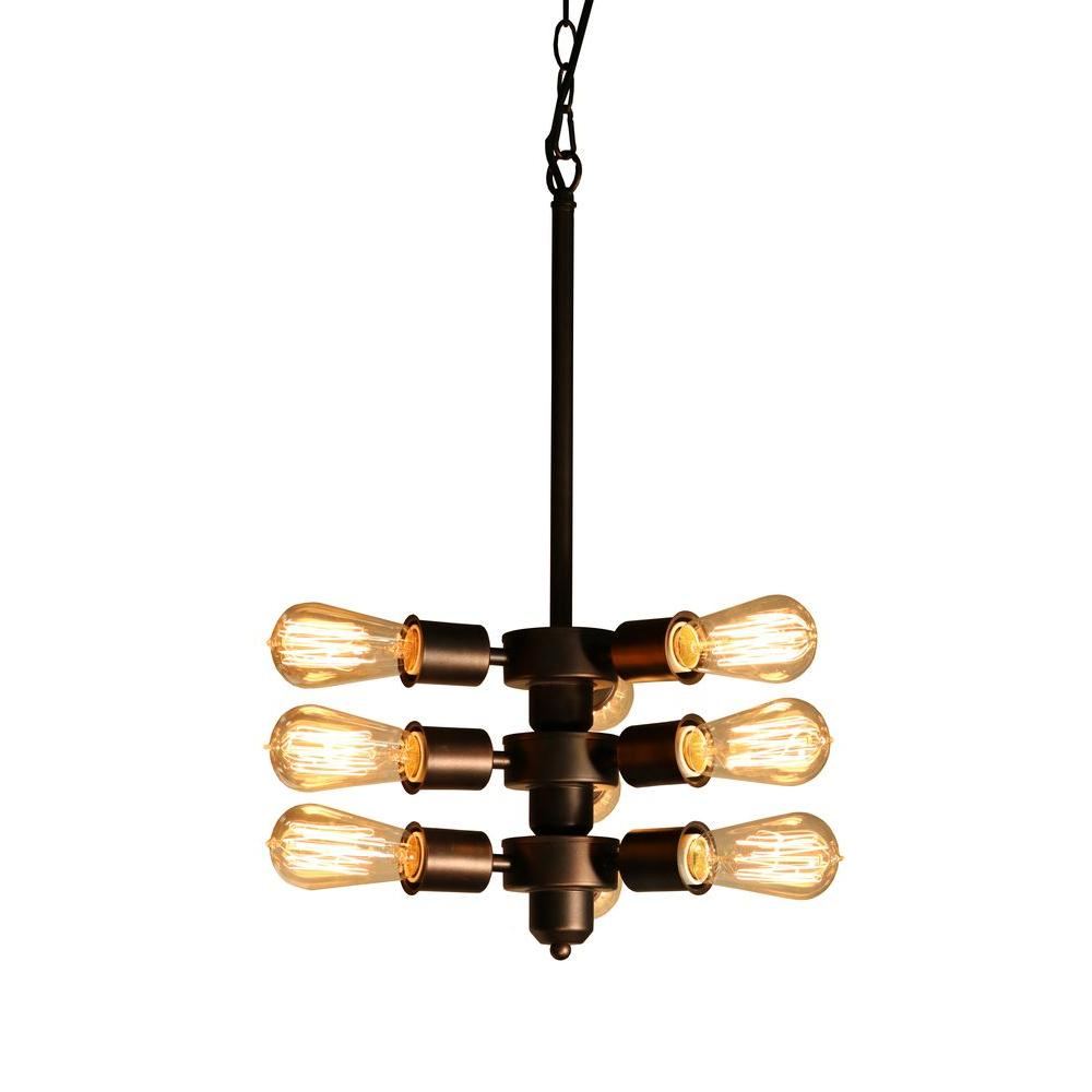 Edison mariam collection 9 light black clear glass chandelier ld4050 edison mariam collection 9 light black clear glass chandelier aloadofball Choice Image