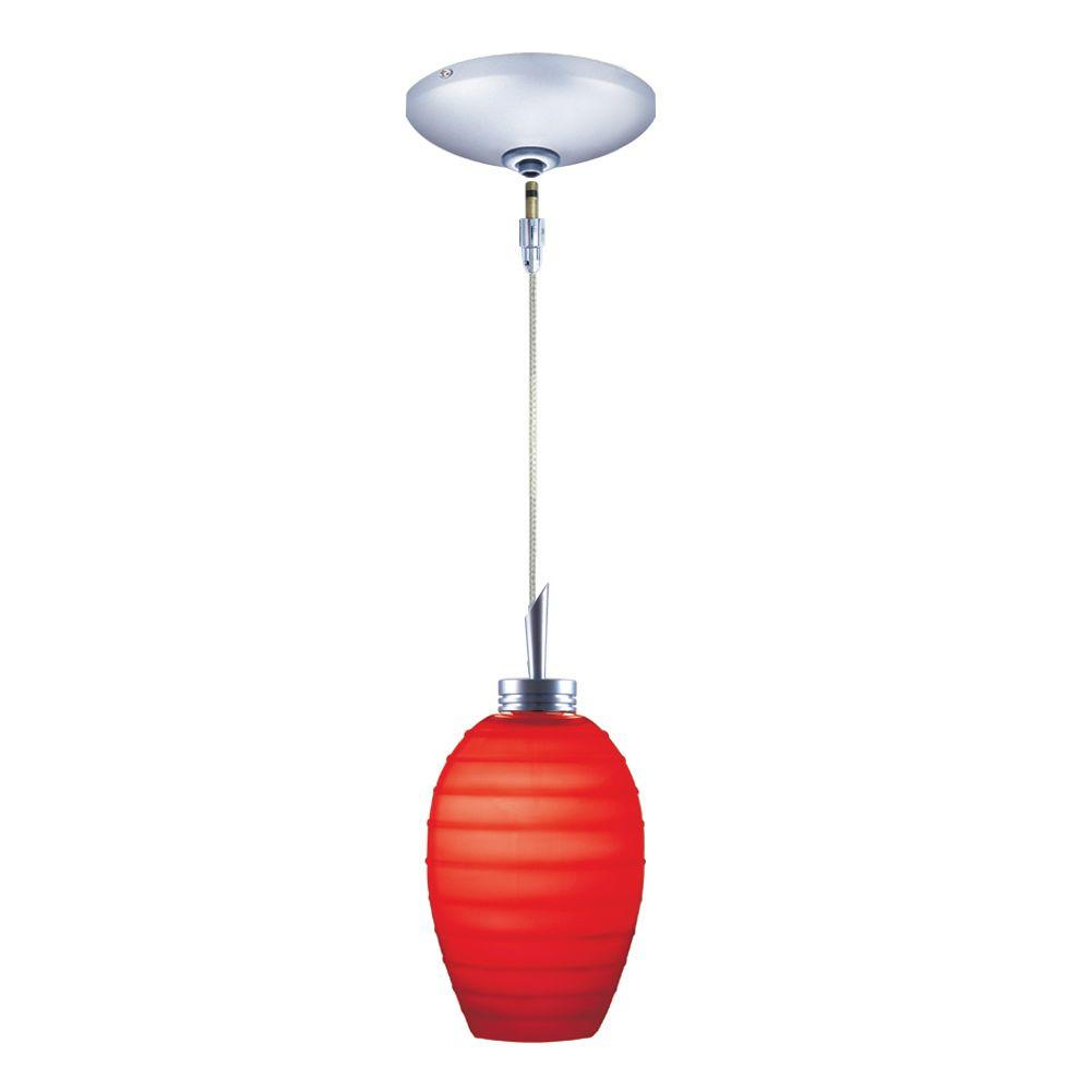 Low Voltage Quick Adapt 3-1/4 in. x 102-3/4 in. Red Pendant