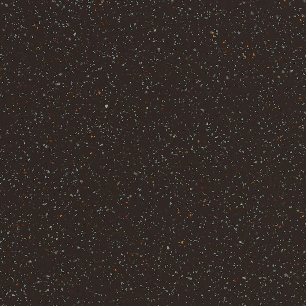 null 2 in. x 2 in. Solid Surface Countertop Sample in Deep Caviar