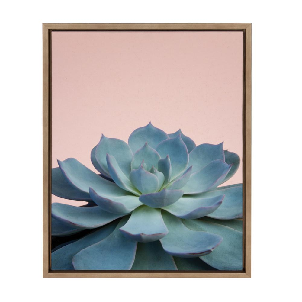 """Sylvie """"Succulent 10"""" by F2Images Framed Canvas Wall Art"""