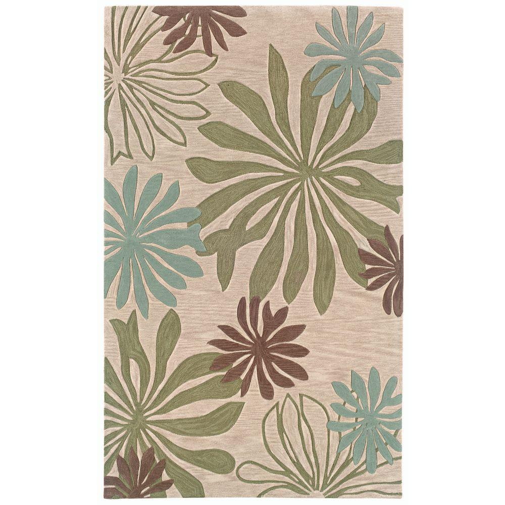LR Resources Fashion Blue/Ivory Rectangle 7 ft. 9 in. x 9 ft. 9 in. Luxurious Indoor Area Rug