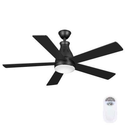 Cobram 48 in. LED Indoor Oil Rubbed Bronze Ceiling Fan with Light Kit and Remote Control