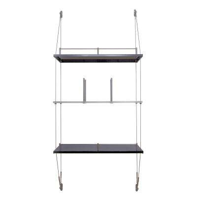29-1/2 in. W x 9 in. D Hanging Gray Decorative Shelf