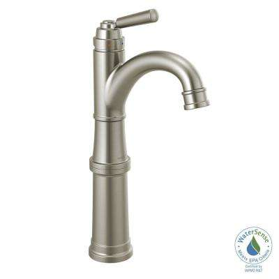 Westchester Single Hole Single-Handle Vessel Bathroom Faucet in Brushed Nickel