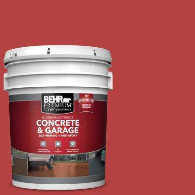 5 gal. #M160-7 Raging Bull Self-Priming 1-Part Epoxy Satin Interior/Exterior Concrete and Garage Floor Paint
