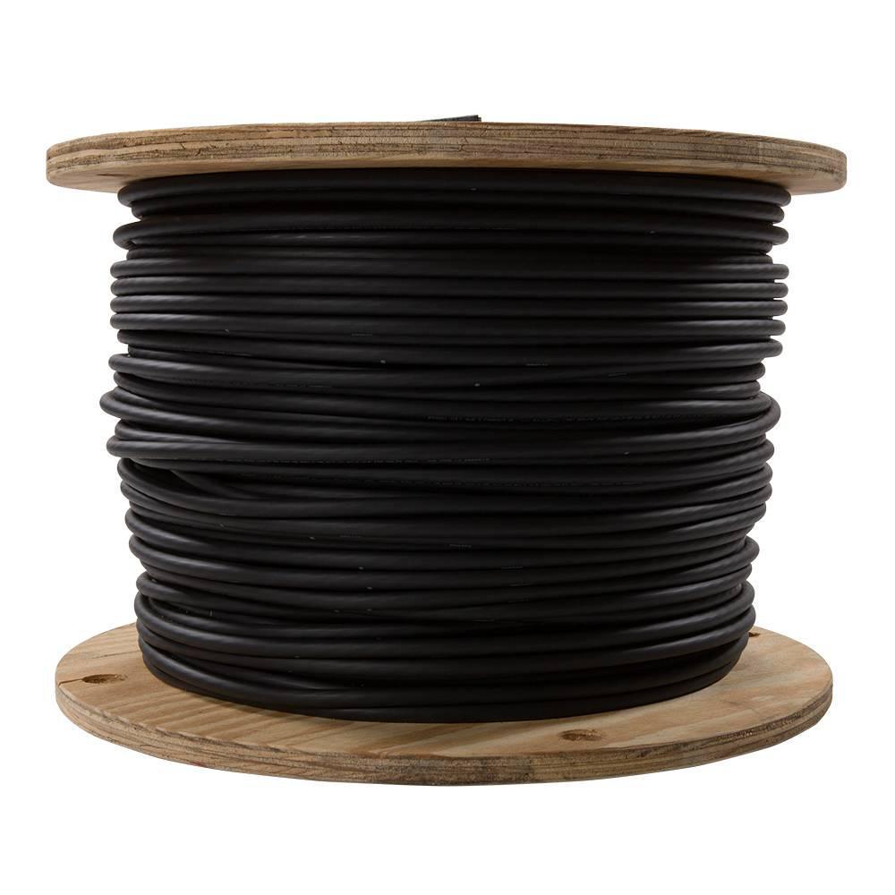 1,000 ft. 2 Black Stranded AL USE-2 Cable
