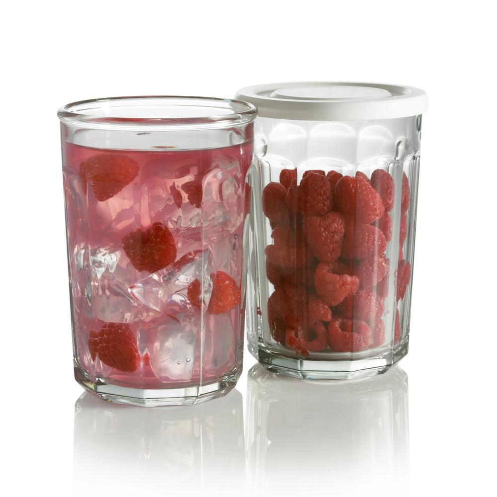 Luminarc Working 21 oz. Glass Storage Jar and Cooler with...