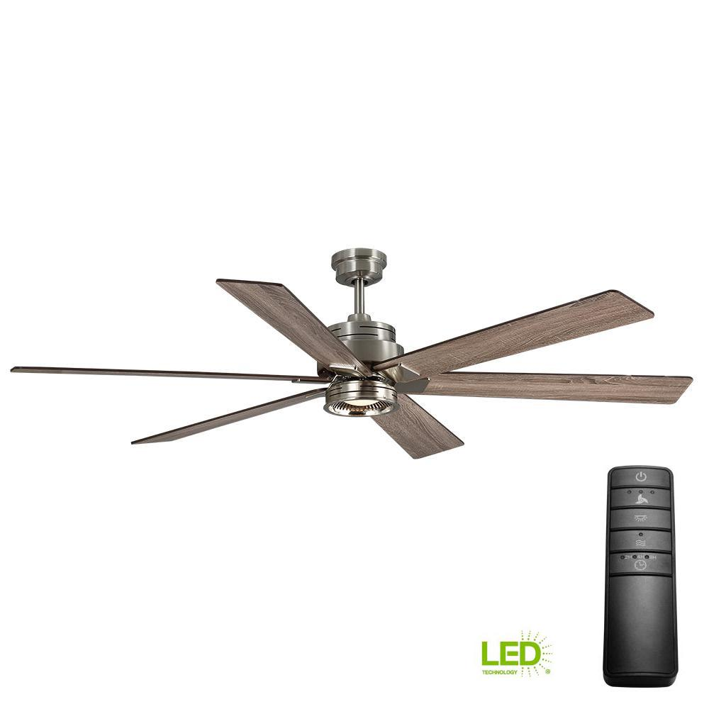 70 ceiling fan 60 inch home decorators collection statewood 70 in led brushed nickel ceiling fan with light kit and