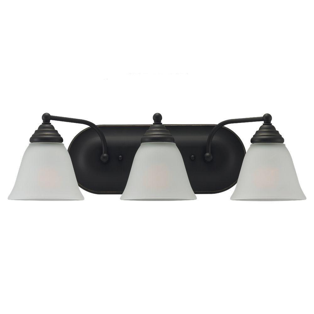 Sea Gull Lighting Albany 3-Light Heirloom Bronze Vanity Fixture