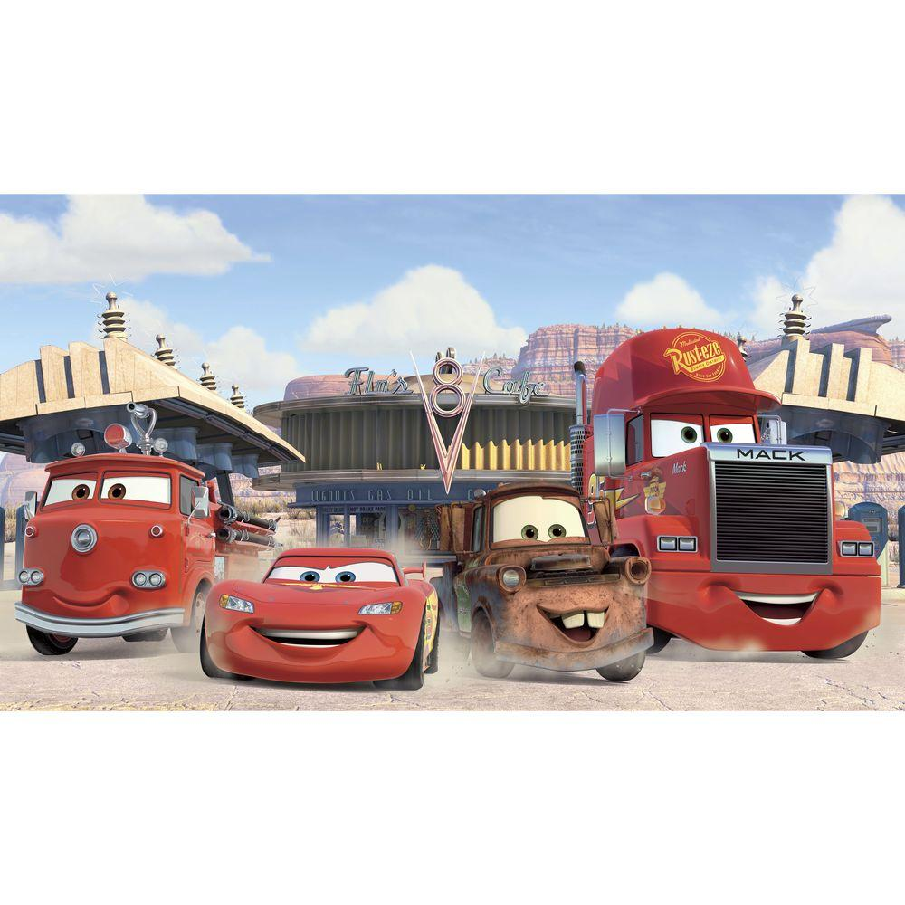 Roommates 72 In X 126 In Disney Cars Friends To The Finish Xl