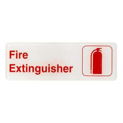 9 in. x 3 in. Fire Extinguisher Sign