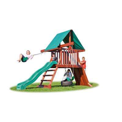 Canyon Brown Cliff Climb Wood Playset