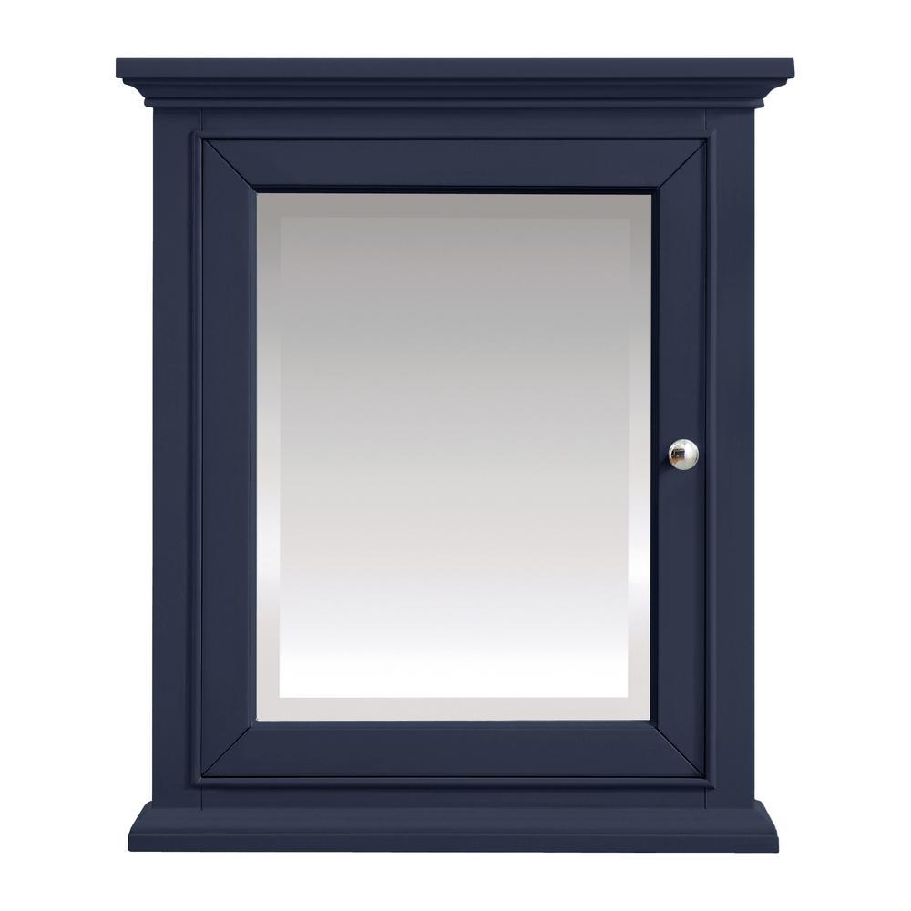 Windlowe 24 in. x 28 in. Surface-Mount Medicine Cabinet in Navy Blue