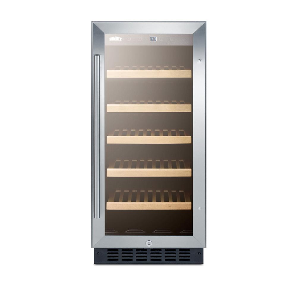 Summit Appliance 15 In 23 Bottle Built In Wine Cooler Ada Height Alwc15 The Home Depot