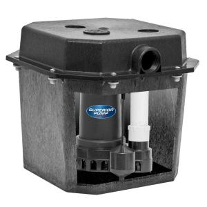 Superior Pump 92072 1/3 HP Pre-Assembled Submersible Remote Sink Drain Pump System by Superior Pump