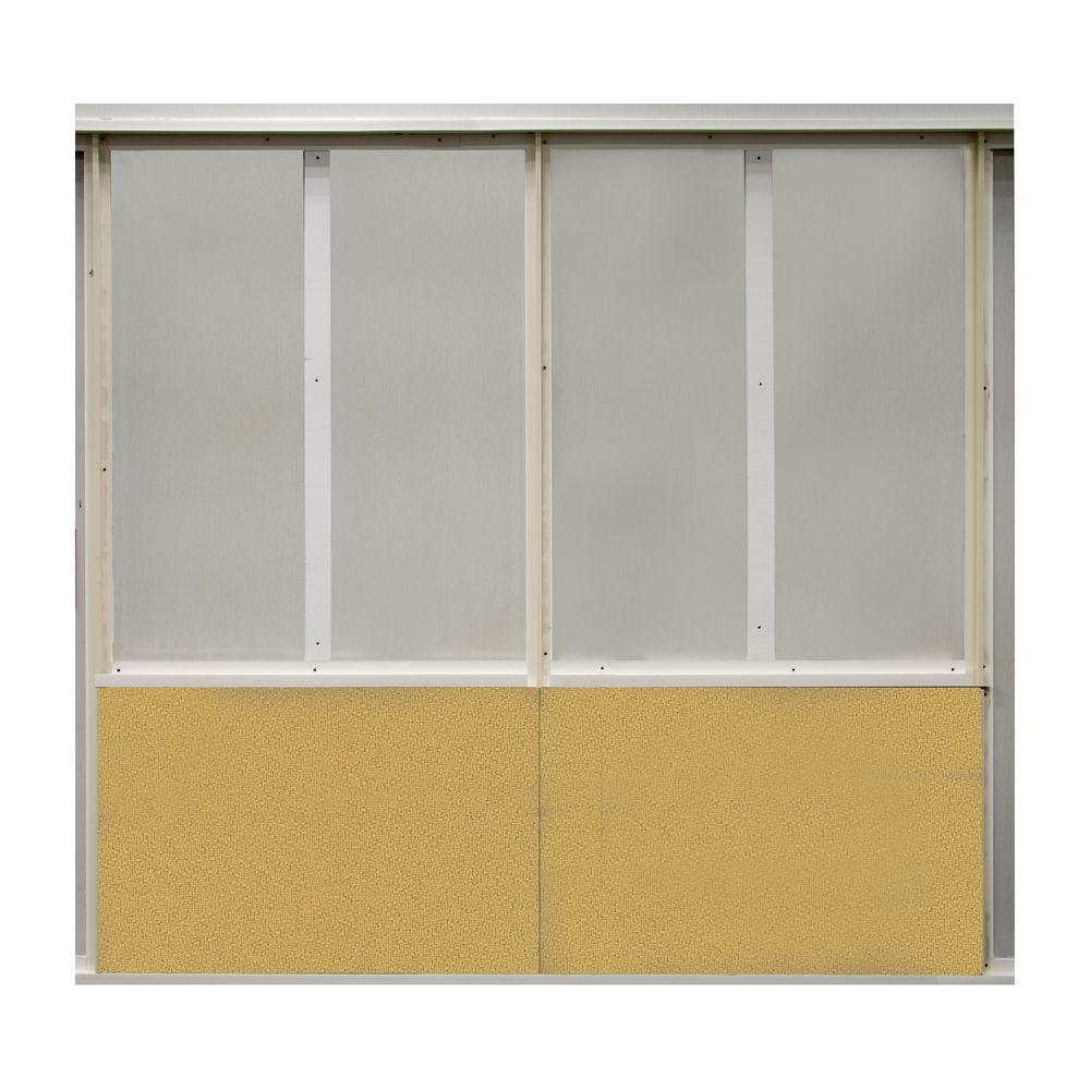 SoftWall Finishing Systems 20 sq. ft. Straw Fabric Covered Bottom Kit Wall Panel