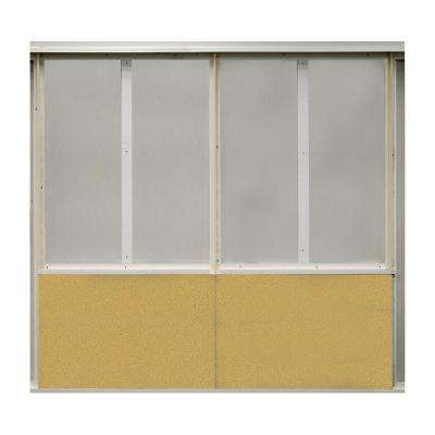 20 sq. ft. Straw Fabric Covered Bottom Kit Wall Panel