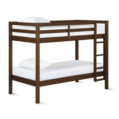 Kiran Mocha Twin Over Twin Bunk Bed