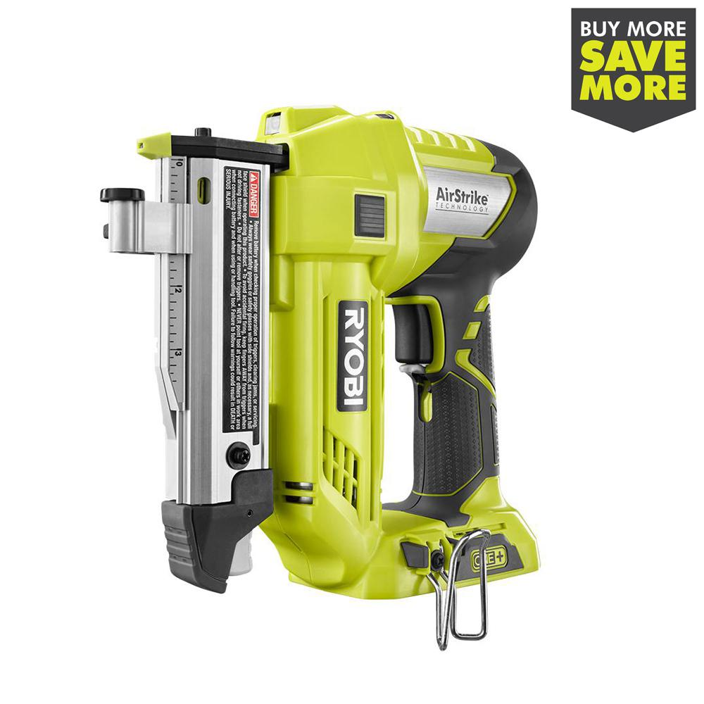 RYOBI 18-Volt ONE+ Lithium-Ion Cordless AirStrike 23-Gauge 1-3/8 in. Headless Pin Nailer (Tool Only)