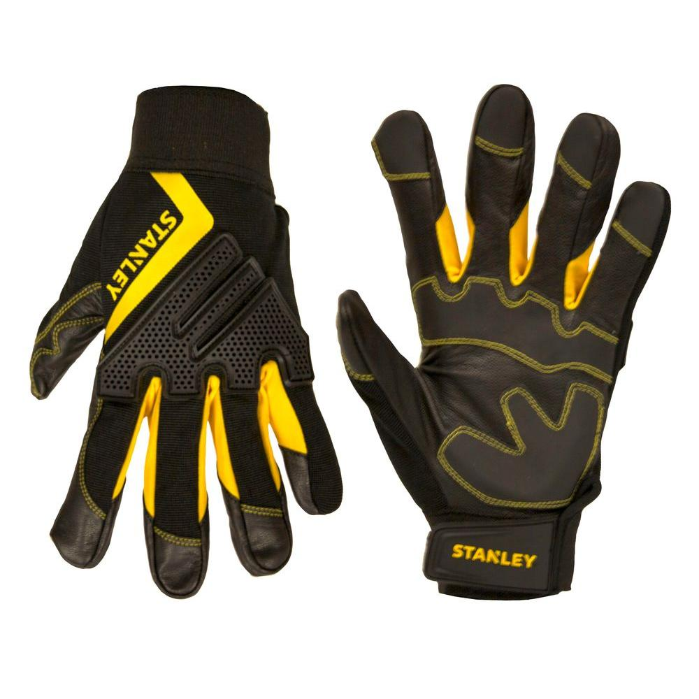 stanley men u0027s large goatskin gloves s77601 the home depot