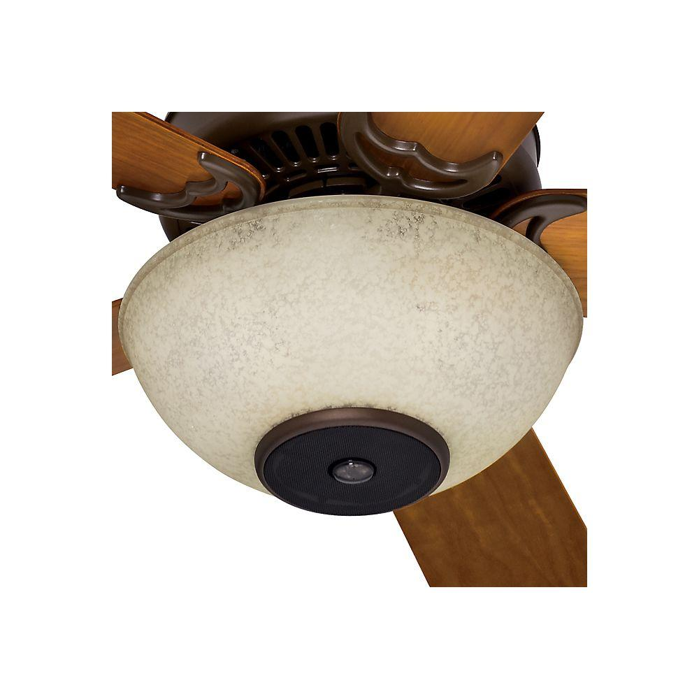 Casablanca Oil Rubbed Bronze Concert Breeze Ceiling Fan Light Kit with Amber Scavo Glass-DISCONTINUED