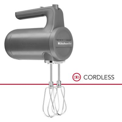 Cordless 7-Speed Charcoal Grey Hand Mixer