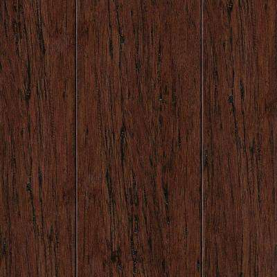 Hand Scraped Strand Woven Mocha 3/8 in. Thick x 2-3/8 in. Wide x 36 in. Length Solid Bamboo Flooring (28.5 sq. ft./case)