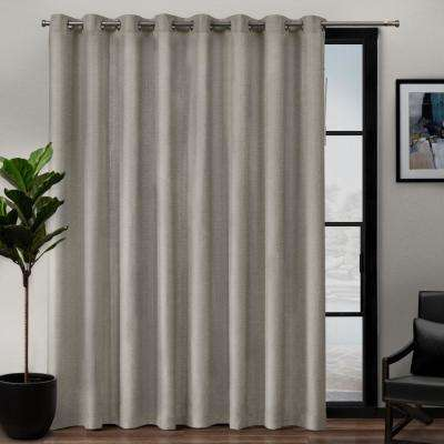 Loha Patio Linen Grommet Top Curtain Panel in Beige - 108 in. W x 84 in. L