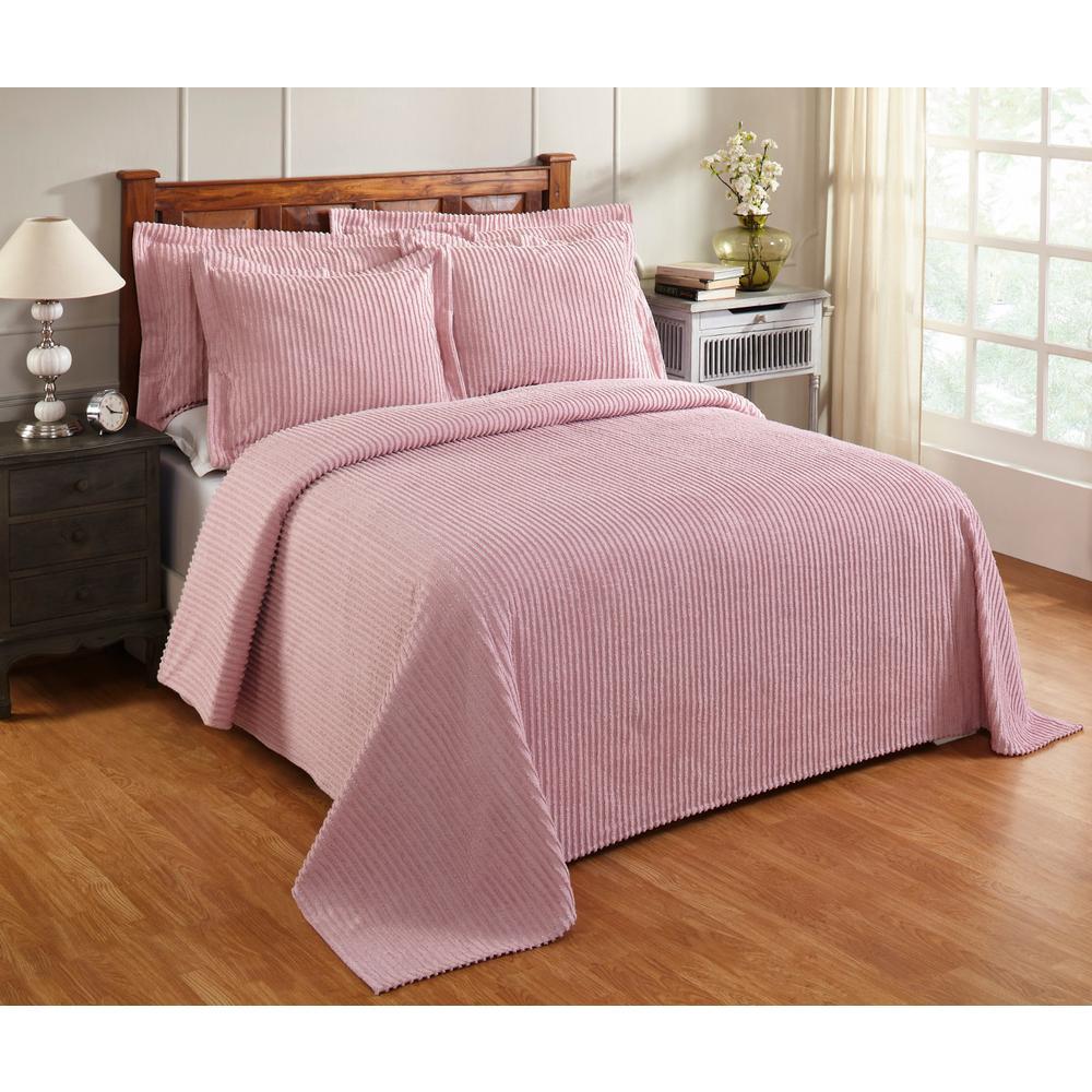Aspen 81 in. x 110 in. Pink Twin Bedspread