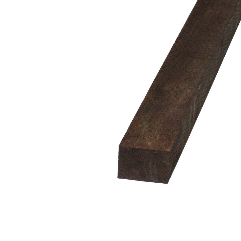 null Pressure-Treated Timber HF Brown Stain (Common: 4 in. x 4 in. x 12 ft.; Actual: 3.56 in. x 3.56 in. x 144 in.)