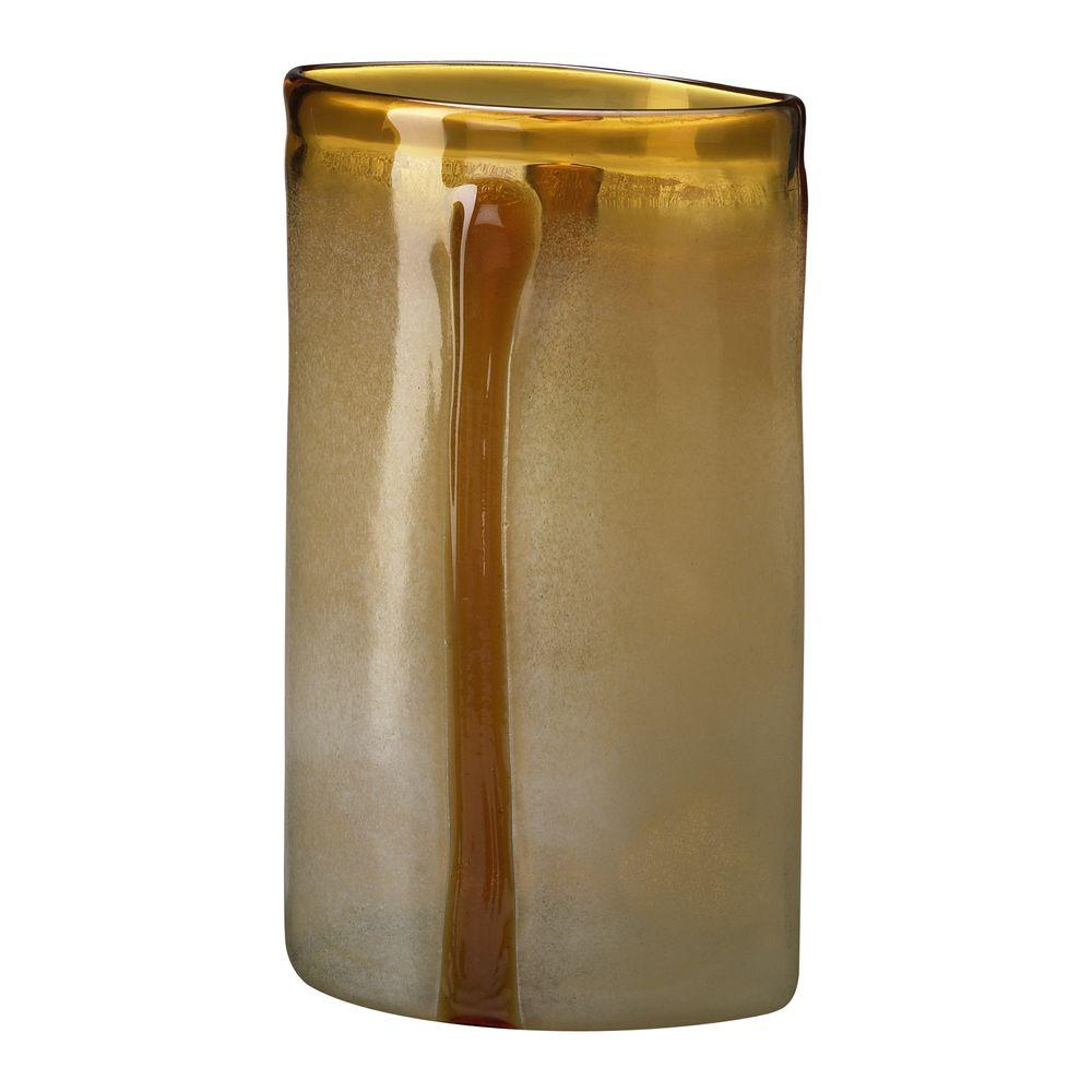 Filament Design Prospect 20 in. x 12 in. Jade And Brown Vase