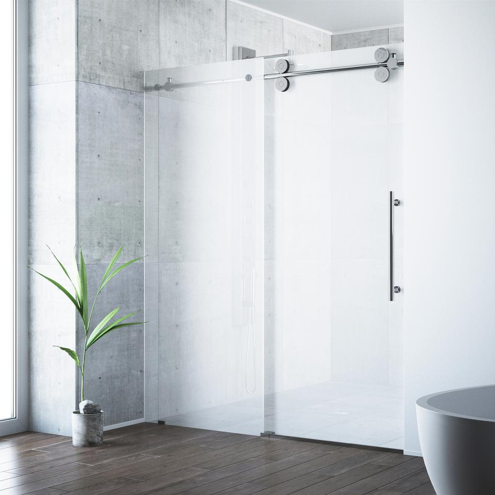 Vigo Elan 60 In X 74 In Frameless Bypass Shower Door In