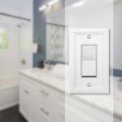 Elly 1 Gang Rocker Composite Wall Plate - White