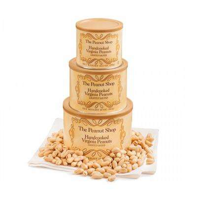 3-Piece Gold Standard Gift Tower Set with 3-Sizes of Lightly Salted Virginia Peanuts