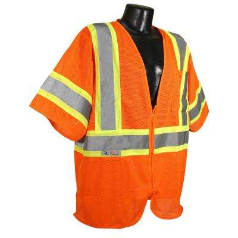 CL 3 with Contrast Orange 4X Safety Vest