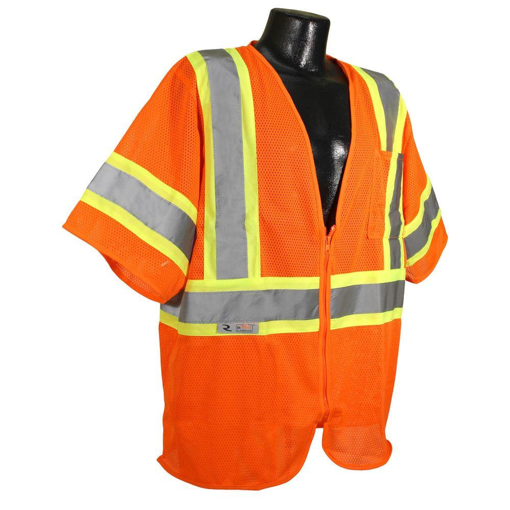 CL 3 with Contrast Orange Medium Safety Vest