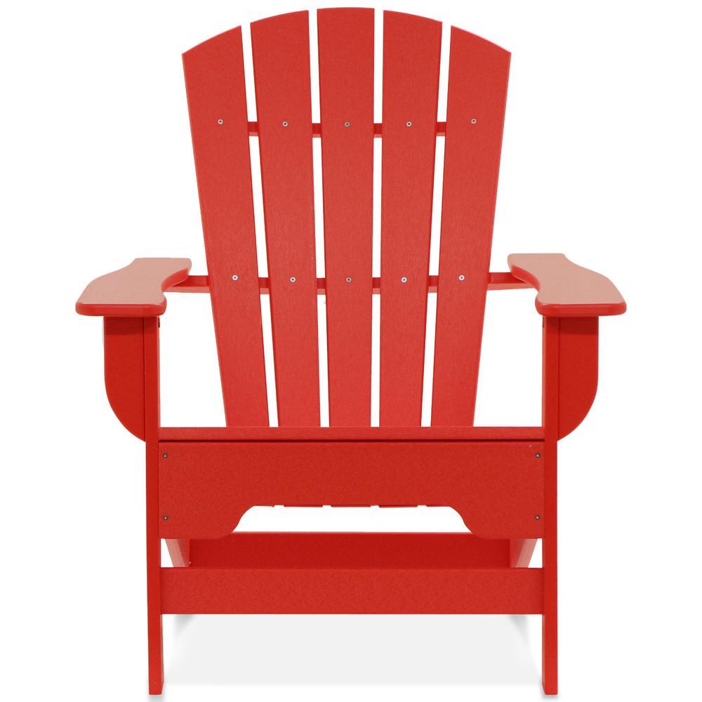 Boca Raton Bright Red Recycled Plastic Adirondack Chair
