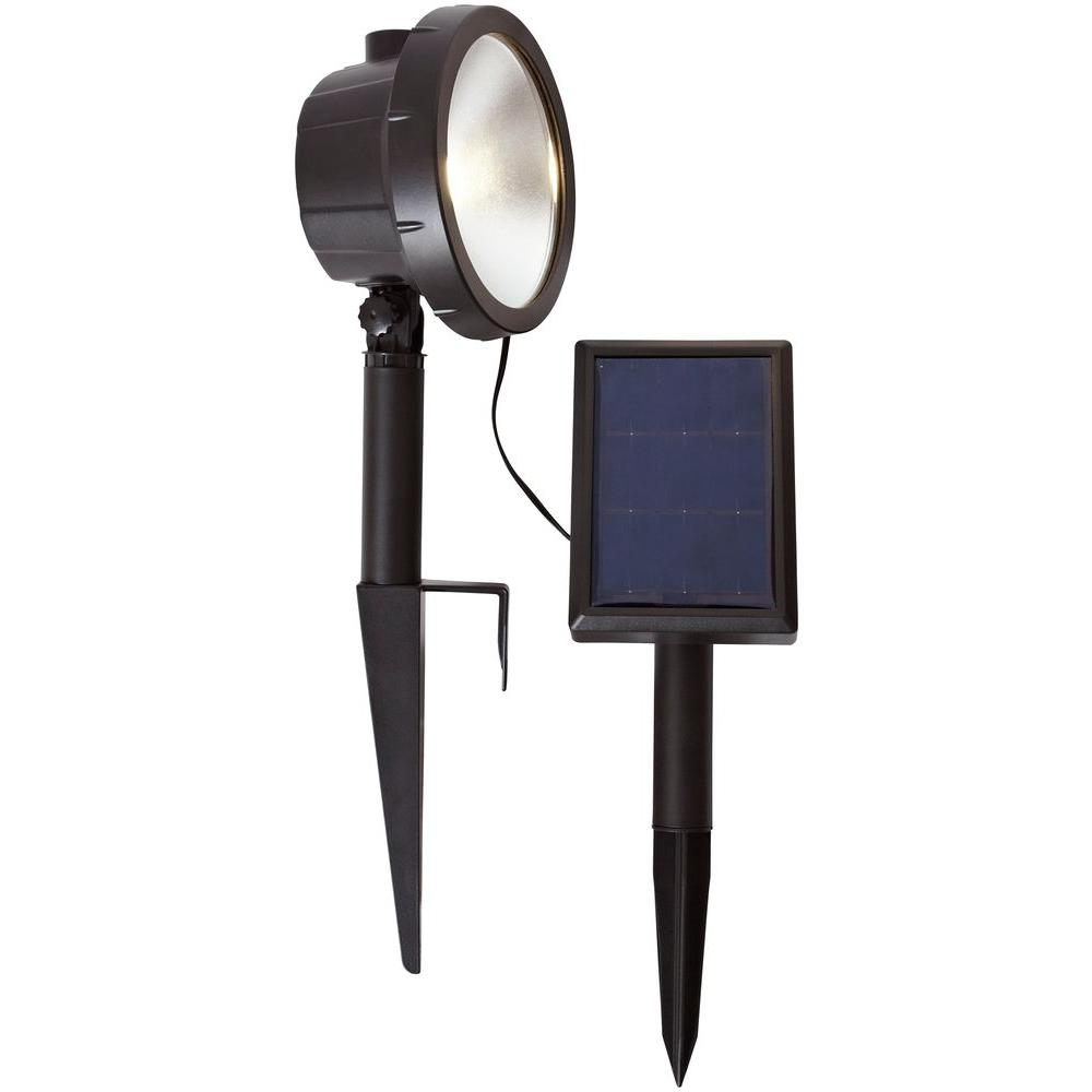 Hampton bay solar black outdoor integrated led 3000k 75 lumens wall hampton bay solar black outdoor integrated led 3000k 75 lumens wall wash landscape light aloadofball Image collections