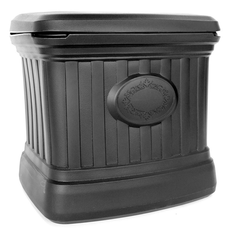 5 cu. ft. Residential Sand and Salt Storage Bin in Black
