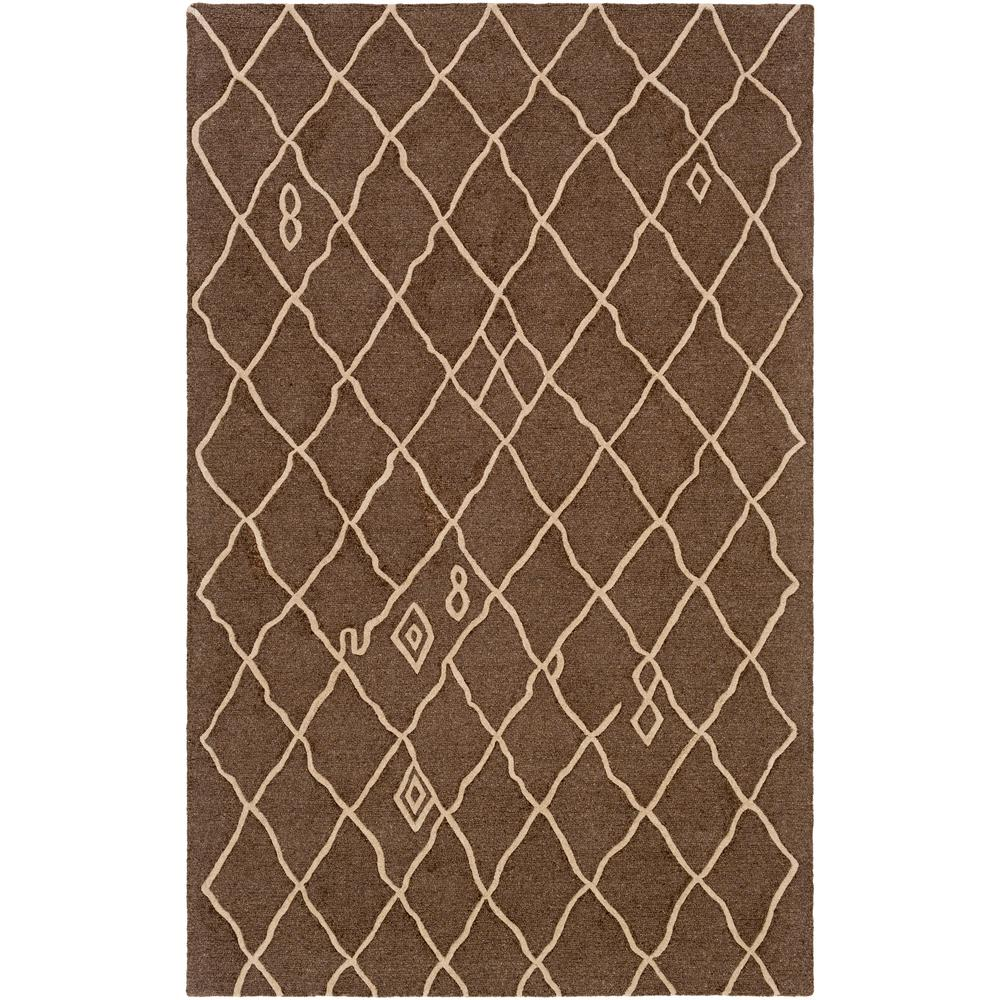 Ghana Zoey Chocolate Brown 5 ft. x 8 ft. Indoor Area